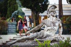 Statue von Achilleus-Sterben Lizenzfreie Stockfotografie