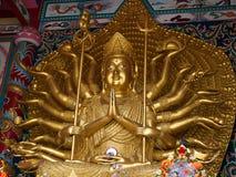 Statue von achtzehn Armen Guanyin Lizenzfreies Stockfoto