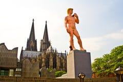Statue von ADAM im Cologne Stockfotos