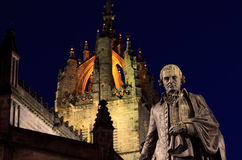 Statue von Adam Smith Stockbild