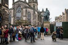 Statue von Adam Smith Lizenzfreie Stockbilder