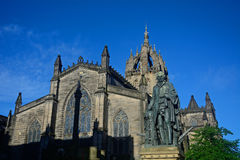Statue von Adam Smith, Edinburgh, Schottland Stockbilder