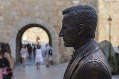 Statue von ¡ Adolfo Suà rez GonzÃ-¡ lez, Avila, Spanien Lizenzfreie Stockfotografie