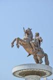 Statue von Alexander der Großes Stadtzentrum herein von Skopje, Mazedonien lizenzfreies stockbild
