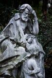 Statue von Ambroise Thomas im parc monceau Paris stockbild