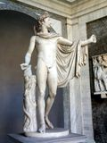 Statue von Apollo, Vatikan-Museum Stockfotografie