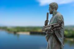 Statue von Aristoteles ein großer griechischer Philosoph Lizenzfreie Stockfotos