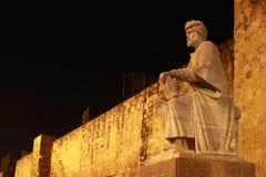 Statue von Averroes Stockfotos