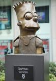 Statue von Bart Simpson vor dem Newscorp-Gebäude in New York Stockfotos