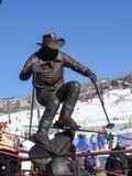 Statue von Billy Kidd Stockfotografie