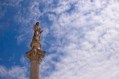 Statue von Bocage in Setubal Lizenzfreies Stockfoto