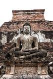 Statue von Buddha bei Wat Mahathat lizenzfreie stockfotos