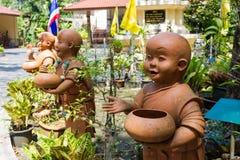 Statue von Buddha am Buppharam Tempel Lizenzfreie Stockfotografie