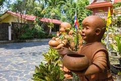 Statue von Buddha am Buppharam Tempel Stockfotografie