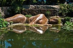 Statue von Buddha im Wasser Lizenzfreie Stockfotos