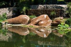 Statue von Buddha im Wasser Lizenzfreies Stockbild