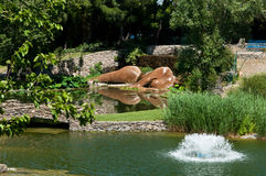 Statue von Buddha im Wasser Lizenzfreies Stockfoto
