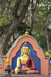 Statue von Buddha an Swayambhunath Tempel in Katmandu, Nepal Lizenzfreie Stockfotos