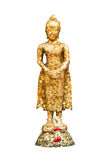 Statue von Buddha und von Girlande am thailändischen Tempel, Bangkok, Thailand Stockbild