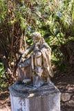 Statue von Byron im Garten am Achilleions-Palast auf der Insel von Korfu Griechenland errichtet von der Kaiserin Elizabeth von Ös Lizenzfreies Stockfoto