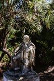 Statue von Byron im Garten am Achilleions-Palast auf der Insel von Korfu Griechenland errichtet von der Kaiserin Elizabeth von Ös Lizenzfreies Stockbild