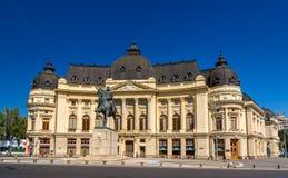 Statue von Carol I in Bukarest Stockbild