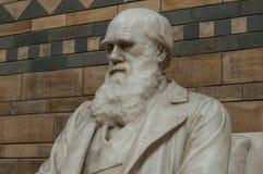 Statue von Charles Darwin stockbild