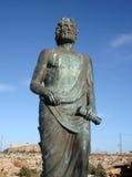 Statue von Cleobulus in Lindos stockfotos