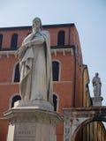 Statue von Dante Lizenzfreies Stockbild