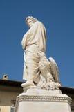 Statue von Dante Alighieri in Florenz Stockbild