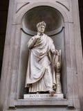 Statue von Dante Allighieri Lizenzfreies Stockfoto