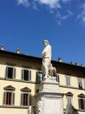 Statue von dante in Florenz lizenzfreies stockbild