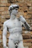 Statue von David stockbilder