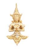 Statue von deva auf Wand Stockfotos