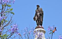 Statue von Dom Pedro IV Stockbilder