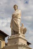 Statue von Durante-degli Alighieri, auch genannt Dante und Adler I Lizenzfreies Stockbild