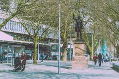 Statue von Edmund Burke im Stadtzentrum Stockbild