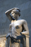 Statue von einem verletzten Amazonas Lizenzfreie Stockfotos