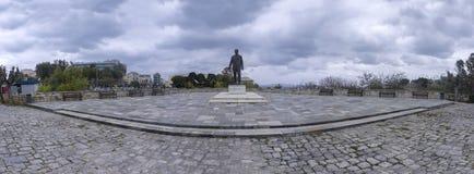 Statue von Eleftherios Venizelos in der Mitte von Iraklio-Stadt - Kreta lizenzfreies stockfoto