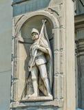 Statue von Francesco Ferruccio in Galeria-degli Uffizi. Florenz, Italien Stockfotos