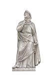 Statue von Francesco Petrarca, Gründer von Humanismus Stockbilder