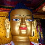 Statue von Gautama Buddha bei Shey Gompa in Leh, Ladakh, Indien Lizenzfreie Stockbilder