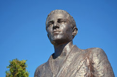 Statue von Gavrilo Princip in Ost-Sarajevo lizenzfreies stockbild