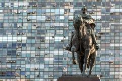 Statue von General Artigas, Montevideo Stockbilder