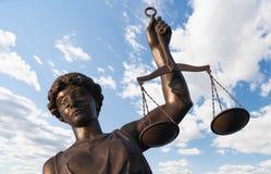 Statue von Gerechtigkeit Stockbilder