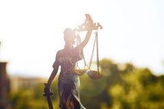 Statue von Gerechtigkeit Closeup Lizenzfreie Stockfotos