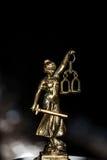 Statue von Gerechtigkeit, Gesetzeskonzept, Stockbilder