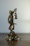Statue von Gerechtigkeit, Gesetzeskonzept, Lizenzfreie Stockfotos