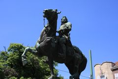 Statue von II Rakoczi Ferenc in Szeged, Ungarn, Csongrad-Region lizenzfreie stockfotos