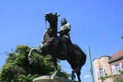 Statue von II Rakoczi Ferenc in Szeged, Ungarn, Csongrad-Region stockfoto